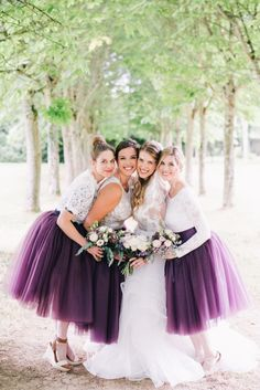 Purple hued bridesmaid dresses: Photography: Ben Yew - https://benyew.com/