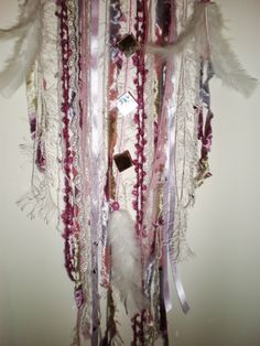 I love the little mirrors I added to this custom order dreamcatcher!