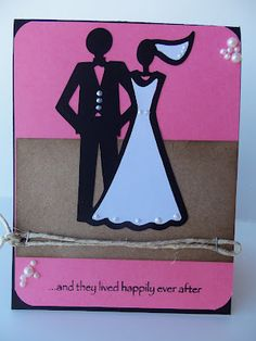 Bride and groom from Wild Card Cricut Cartridge