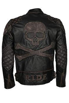 ESHAL Mens Black Day Casual Black Sheep Leather Jacket XXS-5XL Black