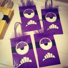 Evil minion goodie bags