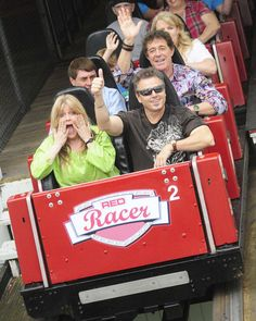 Dayton Daily News is reporting that three of the original cast members from the 1970s show The Brady Bunch reunited at Kings Island amusement park in Mason, Ohio, some 40 years after a Brady Bunch episode was filmed there in 1973. Actors Susan Olsen ('Cindy Brady'), Christopher Knight ('Peter Brady'), and Barry Williams ('Greg Brady') spent the day at the park where they rode the Red Racer roller coaster (as they also did in 1973), spoke with media, and performed shows for park guests.