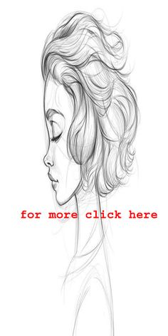 Need some drawing inspiration? Well you've come to the right place! Here's a list of over 30 amazing hair drawing ideas and inspiration. Why not check out this Art Drawing Set Artist Sketch Kit, perfect for practising your art skills. Sketch Nose, Face Sketch, Girl Sketch, Drawing Sketches, Pencil Drawings, Art Drawings, Drawing Ideas, Cartoon Drawings, Drawing Tips