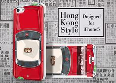 Hong Kong Style Red Taxi - #Apple #Iphone5 Designer Case - #UltraCase #iphone5case #taxi #HongKong
