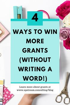 Winning grants isn't always about great writing. There are many other ways you can ensure your nonprofit is competitive for grant money. Click through to read four ways you can win more grants without writing a word. Grant Proposal Writing, Grant Writing, Writing Tips, Business Grants, Business Funding, Business Writing, Business Ideas, Nonprofit Fundraising, Fundraising Events