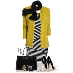 * Black & White Stripe Trend *, created by tufootballmom on Polyvore