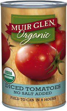 Muir Glen Organic Diced Tomatoes, No Salt, 14.5-Ounce Cans (Pack of 12) - http://goodvibeorganics.com/muir-glen-organic-diced-tomatoes-no-salt-14-5-ounce-cans-pack-of-12/
