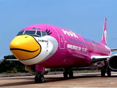 Nok Airlines (out of Thailand) paints their planes to look like birds! via Phuket News