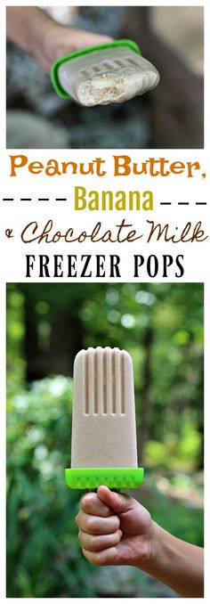 These Peanut Butter, Banana and Chocolate Milk Freezer Pops are a perfect post-workout treat to share with the kids and are made with the vitamin and nutrient rich delicious taste of #TruMoo! #ad
