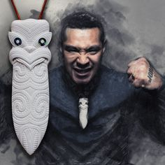 The MIGHTY Hei Taiaha - Hand carved bone taiaha pendant - $60 AUS. Maori Patterns, Polynesian Art, Maori Tattoo Designs, Nz Art, Bone Jewelry, Maori Art, Paua Shell, Carving Designs, Tonga