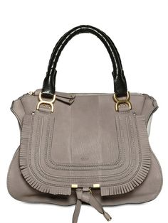 CHLOE' - GRAINED LEATHER MARCIE WITH FRINGING