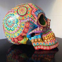 Items I Love by Heidi on Etsy Sugar Skull Painting, Sugar Skull Artwork, Sugar Skulls, Candy Skulls, Body Painting, Mexican Skulls, Mexican Folk Art, Skeleton Art, Skeleton Makeup