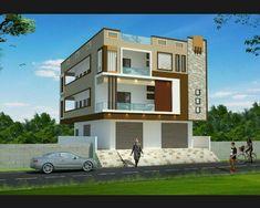 House Facade Drawing 28 Ideas For 2019 Single Floor House Design, Duplex House Design, House Front Design, Apartment Design, Modern House Design, Building Elevation, House Elevation, 2bhk House Plan, Front Elevation Designs