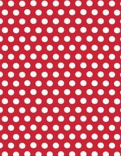 Red Dots Wrapping Paper  Roll wrap for pennants and table covers $7.95