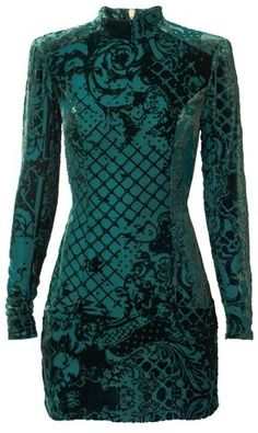 'Melania' Velour Detailed Mini Dress - Green or Black - DESIGNER INSPIRED FASHIONS