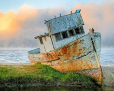 Another iconic sight when visiting Point Reyes National Seashore is this abandoned boat. You can't miss it on your drive through Inverness, and there is a small parking lot where you can pause on your trip to take a look at her. Well-loved and highly photographed, there's even a Flickr group dedicated to photos of this beautifully decaying boat.