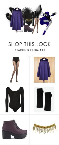 """""""Last Minute Halloween Costumes - Raven (Teen Titans)"""" by lanathedelray ❤ liked on Polyvore featuring Chantal Thomass, WearAll, Exclusive for Intermix, Melissa, Chanel, Halloween, Raven, cosplay, TeenTitans and halloweencostume"""