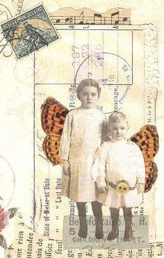 Mail Art: beautifully enhanced card ......