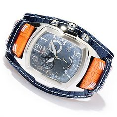 Invicta Mens Dragon Lupah Swiss Quartz Chronograph Stainless Steel Leather Strap Watch