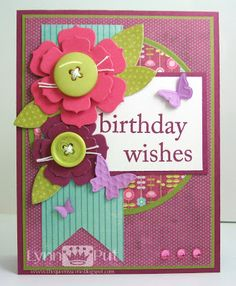 The Queen's Scene: Birthday Wishes Birthday Verses For Cards, Birthday Cards For Her, Birthday Wishes Cards, Birthday Sayings, Birthday Ideas, Invitation Card Birthday, Album Scrapbook, Button Cards, Paper Cards
