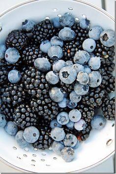 Love blueberries and black berries