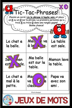 75 different fun French games to practice the reading and writing of French sight words and simple sentences. Place these NO PREP activities in your literacy centers and use to improve phonics skills for several different French sounds! Sight Word Games, Sight Words, Communication Orale, Reading Recovery, Core French, Simple Sentences, Substitute Teacher, French Immersion, Phonics Activities