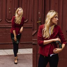 Eleonore Marie Stifter - United Colors Of Benetton Red Blazer, Zara Glitter Clutch, Topshop Shoes - Red Door to Wonderland