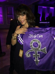 Beautiful young lady modeling the Purple team jersey ●●●●●Mayte●●●●●