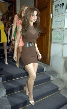 Cheryl Cole walking her pretty legs down some stairs. Natures Body Butters are…