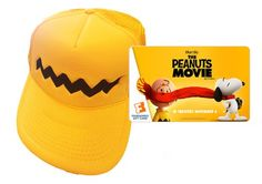 Enter to win a Peanuts Movie prize pack including a $25 Fandango gift card and Charlie Brown Hats