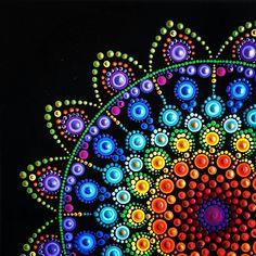 Rock Painting Patterns, Dot Art Painting, Rock Painting Designs, Mandala Painting, Pebble Painting, Mandala Painted Rocks, Mandala Rocks, Mandala Canvas, Mandala Art