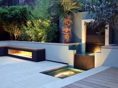 Contemporary Small Garden Design, Creative Yard Landscaping Ideas Your small patio garden design can contain many charming and stylish details and contrasts, inspired by backyard or front yard landscaping ideas, developed by professionals Terrace Design, Backyard Garden Design, Modern Backyard, Small Garden Design, Modern Landscaping, Backyard Landscaping, Landscaping Ideas, Wedding Backyard, Backyard Designs