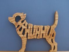Chihuahua Pet Puzzle Cut On Scroll Saw