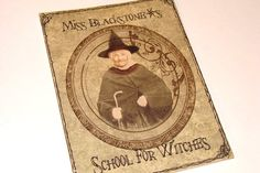 CO473 Halloween School For Witches Vintage Inspired by SiriusFun, $7.50