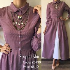 Dresses With Sleeves, Shirt Dress, Long Sleeve, Shirts, Fashion, Gowns With Sleeves, Moda, Shirtdress, Tee Dress