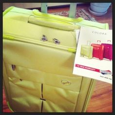 American Tourister Colora Spinner - check out my review of this carry-on... great capacity, fantastic features, and fun colors!  #PackMoreFun