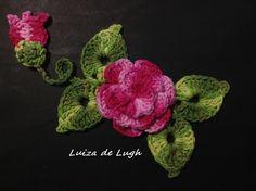 Crochê - Flor para aplicação nº 3 - Tutorial - Parte Única