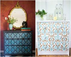 16 DIY Home Decorating Ideas using Trendy Ikat Pattern Stencils - Royal Design Studio