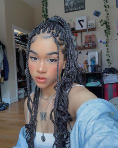 in Braids jewelry keeahwah Box Braids Hairstyles, Baddie Hairstyles, Black Girls Hairstyles, Cute Hairstyles, Everyday Hairstyles, Straight Hairstyles, Curly Hair Styles, Natural Hair Styles, Aesthetic Hair