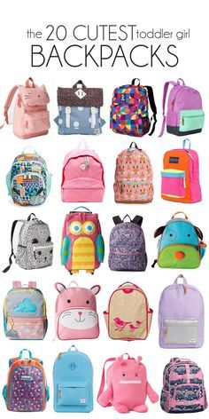 prepping for the first day of preschool :( 20 of the CUTEST toddler girl backpacks