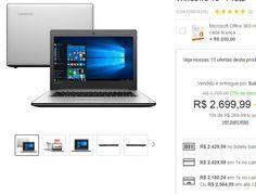 """Notebook Lenovo Ideapad 310 Intel Core i7 8GB 1TB LED 14"""" Windows 10 << R$ 218024 >>"""