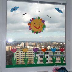 01 jarni okno 10-04-30 Window Art, 3d Paper, Collage Art, Activities For Kids, Diy And Crafts, Kindergarten, Frame, Centre, Windows