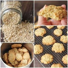 Galletas de avena Sweet Recipes, Dog Food Recipes, Cookie Recipes, Dessert Recipes, Healthy Recipes, Delicious Desserts, Yummy Food, Cookies, Cooking Time