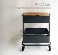 カートワゴンサイドテーブル/北欧レトロシャビーシンプルアンティークカフェインダストリアル家具洗濯ランドリーバッグ