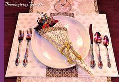 napkin folding for thanksgiving | Thanksgiving Elegance: How To Create Cornucopia Napkins