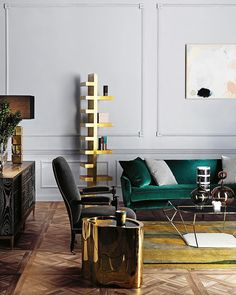 We talked to interior stylist Colin King on exactly what it takes to make a home look magazine-worthy. Learn valuable interior styling tips from this pro Sala Home Teather, Style At Home, Rearranging Living Room, Living Room Designs, Living Spaces, Interior Styling, Interior Design, Mid Century Modern Living Room, Living Room Green