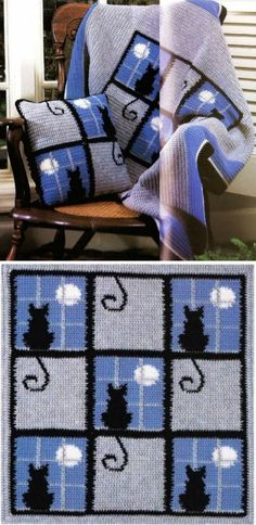 Crochet Cat Pattern Blanket Ideas