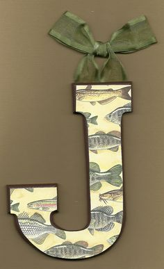 """Gone Fishing Letters """"T"""" with fishing"""
