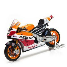 Miniatura Honda Repsol Moto GP 2014 - Maisto 1:18 - Machine Cult | Loja online especializada em camisetas, miniaturas, quadros, placas e decoração temática de carros, motos e bikes
