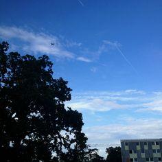 London blue skies..